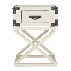 Safavieh Dunstan Accent Table With Storage Drawer, White