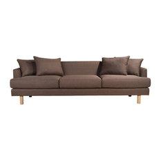Kelli 105-inch Upholstered Sofa Brown