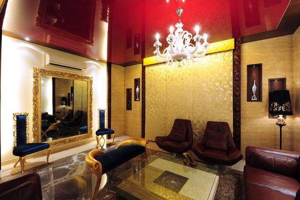 Contemporary Living Room by YOGESH WADHWANA