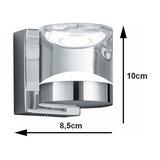 Glossy chrome-plated LED bathroom wall light Brian