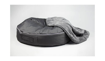 XL Luxury Dog Bed w/ removable Faux Fur Blanket