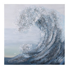 Crystal Wave Textured Metallic Hand Painted Wall Art by Martin Edwards
