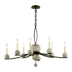 Tallulah 8-Light Chandelier, Natural Rust and Raw Concrete Finish