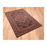 Kashqai 4354 401 Green Rectangle Traditional Rug 135x200cm
