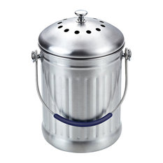 Cook N Home Stainless Steel Kitchen Compost Bin, 1-Gallon