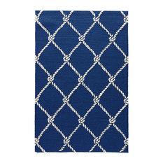 Jaipur   Jaipur Novelty Pattern Blue White Polypropylene COL52 Rug , 5u0027x7u00276