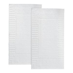 Timaru 2-Piece Turkish Cotton Bath Mat Set, White