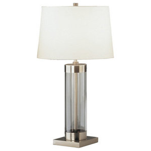 Revere Gunmetal Clear Floor Traditional Table Lamps By Medallion Lighting