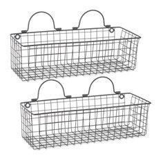 DII Wire Wall Basket, Set of 2 Medium Black