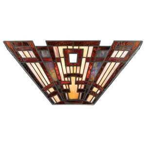 Tiffany Glass 2-Light Wall Uplighter