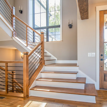 Cleveland Transitional Rustic Custom Built Home