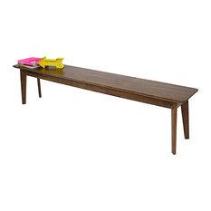 The Santa Monica Bench Mid Century Modern Inspired Walnut Bench 64-inchx14-inchx18-inch