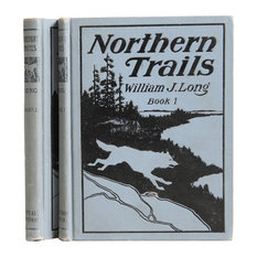 """1908 """"Northern Trails Books I/II"""" by William J. Long"""