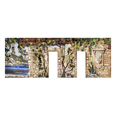 "Masterpiece Marble Mosaic Mural, 266""x709"""