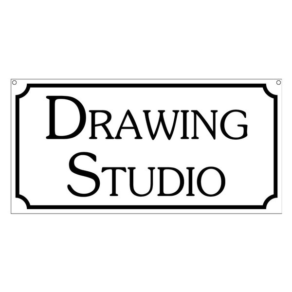 Drawing Studio, Aluminum Hotel Home Novelty Sign, 6