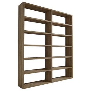 Torero Double Bookcase, Oak