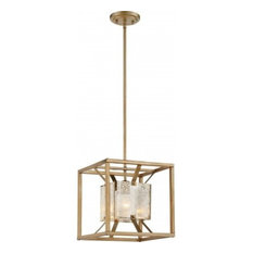 Nuvo Stanza 1-Light Antique Gold Small Pendant Light Fixture