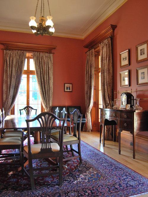 Grande sala da pranzo con pareti rosa foto idee - Pareti sala da pranzo ...