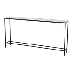 Howard Modern Thin Mirrored Wide Console Table Tables