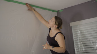 Do-It-Yourself Painted Popcorn Ceiling Removal