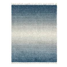 Unique Loom Blue Gradient Hygge Shag 8' 0 x 10' 0 Area Rug
