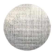 Unique Loom Del Mar Jennifer Rug, Gray, 6'x6' Round