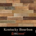 "RECwood Planks - Kentucky Bourbon 5"" Reclaimed Wood Panels, 20 Sq Ft - $9.99 per square foot"