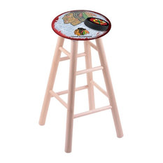 Chicago Blackhawks Counter Stool W/Red Background
