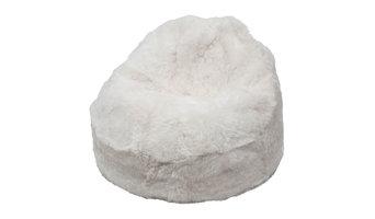 Shorn Icelandic Sheepskin Bean Bag, White