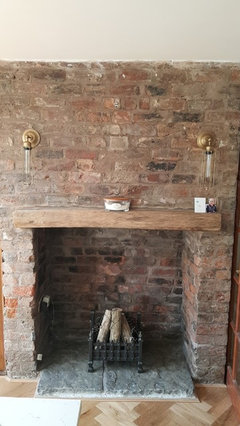 How To Restore Old Crumbling Brick Fireplace Houzz Uk