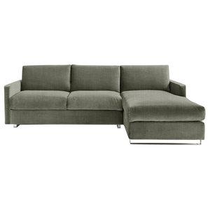 Felix Corner Sofa Bed, Sage, 3 Seater, Right Hand Facing, Euro King