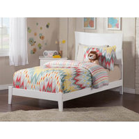 Traditional Twin Bed,, White