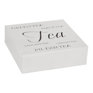 Square White Tea Storage Box