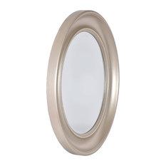 Olivia Light Gold Round Wall Mirror, 90 cm