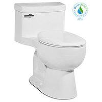 Malibu 1P 1.28gpf Round-Front Toilet, Balsa