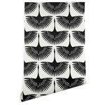 Deny Designs - Deny Designs Caroline Okun Majestic Crane Wallpaper, Black, 2'x10' - Banish those beige walls and create that statement space you have always dreamed of with the Deny Designs wallpaper. The peel and stick design is easy to install and remove and leaves no sticky residue, making it ideal for accent walls, flat surfaces and permanent and temporary installations. Each panel features a vibrant repeating pattern. Available in three floor-to-ceiling sizes and printed with a matte finish and texture, your space will never look better!