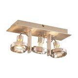 Teska three-bulb aluminium ceiling light