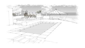 3d Visualisierung exklusiver Privatgarten