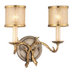corbett lighting parc royale bath light 2 light gold and silver leaf