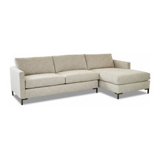 Klaussner Furniture Deacon Right Facing Sofa Chaise Sectional, Beige