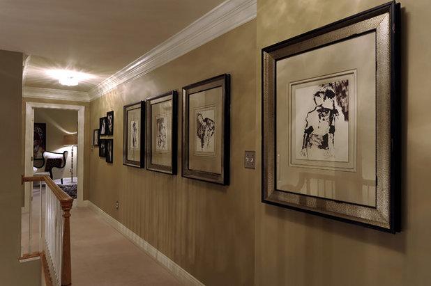 Contemporary Hall by Paula Grace Designs, Inc.