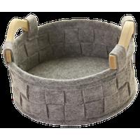 Storage Basket Weave Felt Clothes Storage Basket Gray