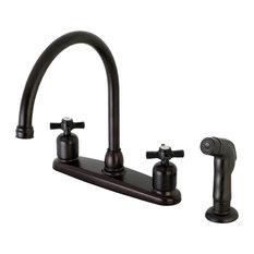 Millennium 8-Inch Centerset Kitchen Faucet with Sprayer, Oil Rubbed Bronze