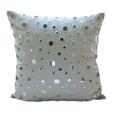"Mirror White Pillows Cover, Cotton Canvas 12""x12"" Pillow Cover, White Mirrors"