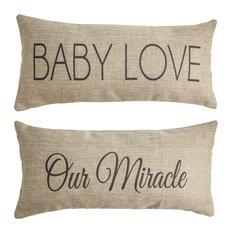 Baby Love Baby Gift Baby Shower Reversible Nursery Pillow