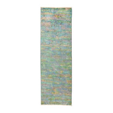"""Vibrance, Hand Knotted Runner Rug, 2'8""""x8'3"""""""