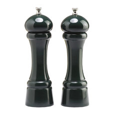 """Chef Specialties Pro Series Pepper and Salt Mill Set, Forest Green, 8"""""""