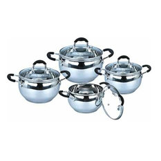 Uniware Stainless Steel Cookware Set, 8 Pieces