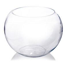 "CYS Glass Bubble Bowl Vase, Fish Bowl Aquarium/Terrarium, Diameter-16"", 1 Piece"