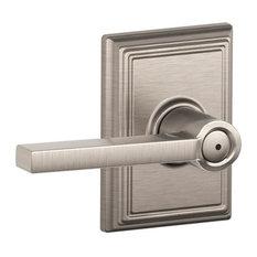 Schlage F40-LAT-ADD Latitude Privacy Door Lever Set - Satin Nickel